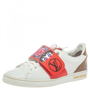 Louis Vuitton Multicolor Leather Kyoto Low Top Sneakers Size 36