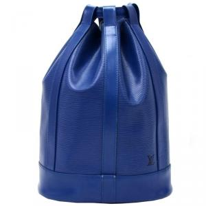 Louis Vuitton Blue Epi Leather Randonnee Backpack