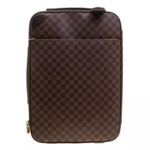 Louis Vuitton Damier Ebene Canvas Pegase Light 55 Luggage