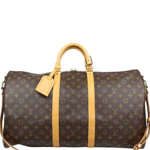 Louis Vuitton Monogram Canvas Bandouliere Keepall 55 Bag