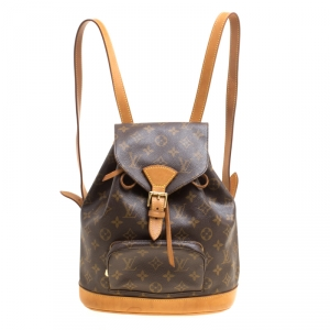 Louis Vuitton Monogram Canvas and Leather Montsouris MM Backpack