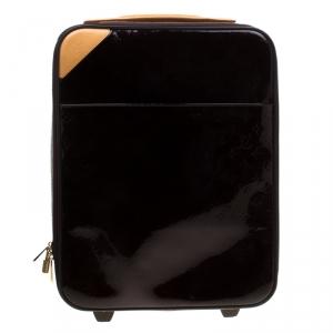 حقيبة سفر لوي فيتون بيغاس جلد لامع مونوغرامي أمارانتي 45