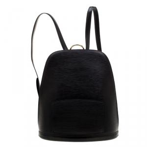 حقيبة ظهر لوي فيتون غوبلينز جلد إيبي أسود