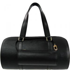 حقيبة لوي فيتون سوفلوت جلد أيبي سوداء