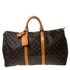 Louis Vuitton Monogram Canvas Keepall 50 Bag