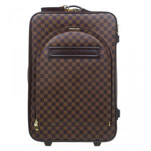 Louis Vuitton Damier Ebene Canvas Pegase 55 Suitcase