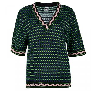 M Missoni Multicolour Knit Short Sleeve Top M