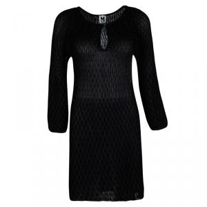 M Missoni Black Knit Long Sleeve Dress M