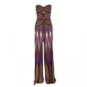 M Missoni Multicolor Lurex Knit Tube Top and High Waist Pants Set M