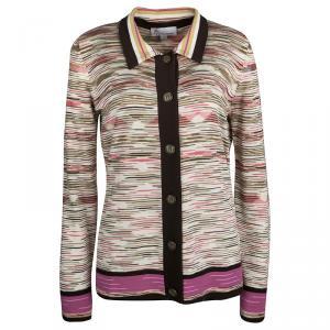 M Missoni Multicolor Striped Knit Top and Cardigan Set L