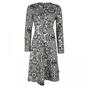 M Missoni Grey Abstract Print Long Sleeve Jersey Dress L