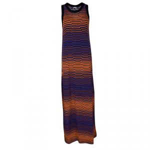 M Misoni Multicolor Knit Sleeveless Maxi Dress S