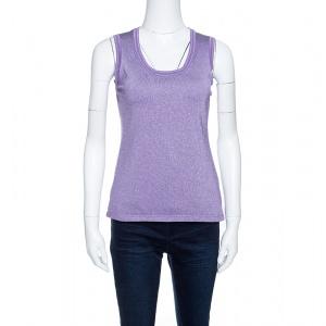 M Missoni Purple Lurex Knit Tank Top M