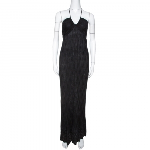 M Missoni Black Chevron Knit Halter Dress M used