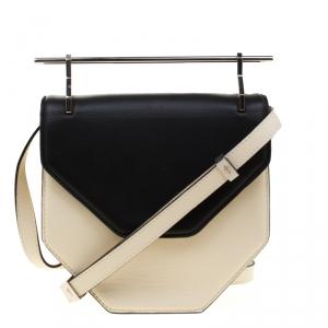 M2Malletier Off-white/Black Leather Amor Fati Crossbody Bag