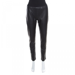 Maison Martin Margiela Black Lambskin Leather Leggings S