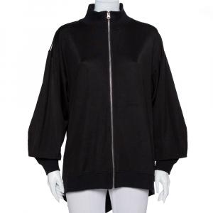 Maison Martin Margiela Black Knit High Neck Zip Front Jacket M