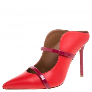 Malone Souliers Red Leather Maureen Mules Size 37
