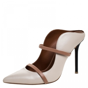 Malone Souliers Beige Leather Maureen Mules Size 38