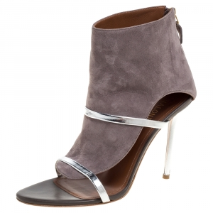 Malone Souliers Grey Suede And Leather Miley Cutout Sandals Size 38 - used