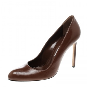 Manolo Blahnik Brown Leather BBR Pumps Size 40