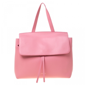 Mansur Gavriel Pink Leather Lady Top Handle Bag
