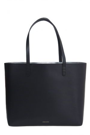 Mansur Gavriel Black/Argento Leather Large Tote