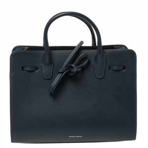 Mansur Gavriel Navy Blue Leather Sun Tote