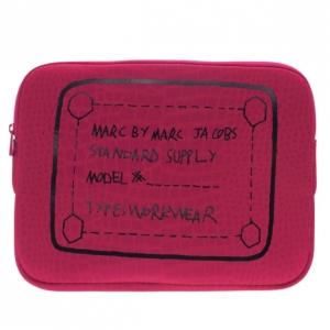 """Marc by Marc Jacobs Pink 13"""" Trompe l'Oeil Croc-Print Laptop Case"""