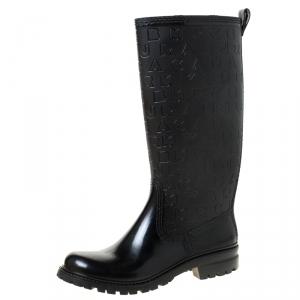 Marc by Marc Jacobs Black Rubber Alphabet Rain Boots Size 41