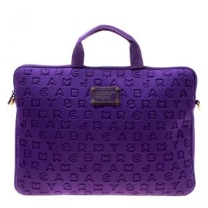 Marc by Marc Jacobs Purple Monogram Fabric Laptop Bag
