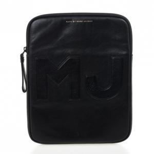 Marc by Marc Jacobs Black Leather Big Jac iPad Case