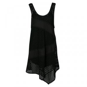 Marc By Marc Jacobs Black Eyelet Jersey Asymmetric Sleeveless Yuki Dress S - used