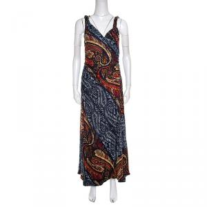 Marc by Marc Jacob Multicolor Paisley Printed Sleeveless Maxi Dress M - used