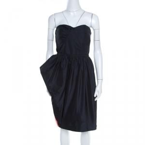 Marc by Marc Jacobs Black Asymmetric Peg Ellsworth Strapless Dress L - used