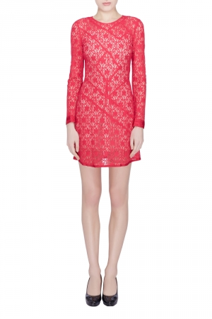 Marc by Marc Jacobs Strawberry Daiquiri Floral Lace Paneled Leila Dress S - used
