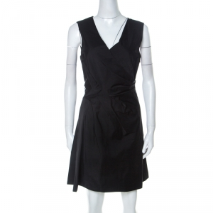 Marc by Marc Jacobs Black Draped Sleeveless Cocktail Dress M - used