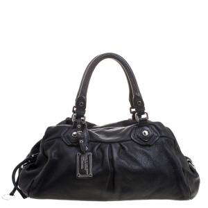 Marc by Marc Jacobs Black Leather Classic Q Groovee Satchel
