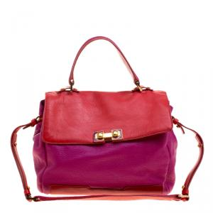 Marc By Marc Jacobs Fuchsia and Red Leather Bob's Memphis Satchel