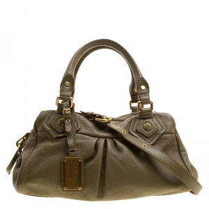 Marc by Marc Jacobs Taupe Leather Classic Q Baby Groovee Bag
