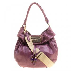 حقيبة مارك باي مارك جاكوبس أربطة نيو Q ليل جلد بنفسجية
