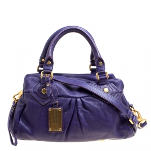 Marc by Marc Jacobs Purple Leather Classic Q Baby Groovee Bag