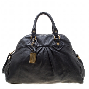 Marc by Marc Jacobs Black Leather Classic Q Baby Aidan Satchel