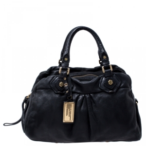 Marc by Marc Jacobs Black Leather Classic Q Baby Groovee Satchel