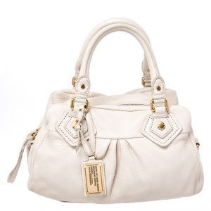 Marc by Marc Jacobs Cream Leather Classic Q Baby Groovee Bag
