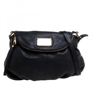 Marc by Marc Jacobs Black Leather Classic Q Natasha Flap Bag