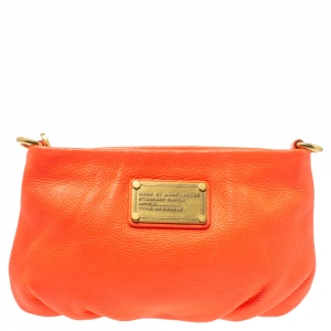 Marc by Marc Jacobs Neon Orange Leather Crossbody Bag
