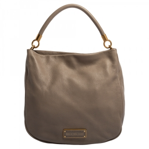 Marc by Marc Jacobs Taupe Soft Grained Leather Too Hot to Handle Hobo