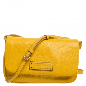 Marc by Marc Jacobs Yellow Leather Too Hot To Handle Sofia Crossbody Bag