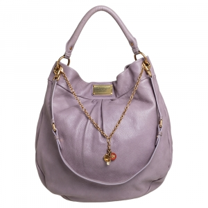 Marc by Marc Jacobs Lavender Leather Classic Q Hillier Hobo